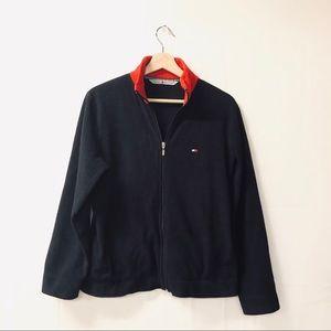 Tommy Hilfiger Black large half zip fleece jacket